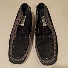 DECOYS by Auditions Women's Black Leather Loafers Size 9 1/2 AA