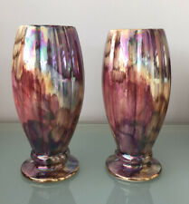More details for oldcourt hand painted lustre pink vases