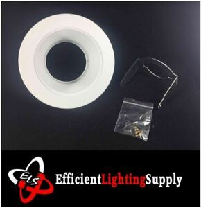 """12 PACK 4"""" INCH RECESSED CAN LIGHT STEP TRIM WHITE BAFFLE REPLACE HALO 993W"""
