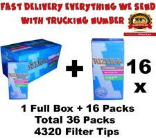 Rizla Ultra Slim Cigarette Filter Tips 5.7 mm Full Box & 16 Packs=36 Packs Total