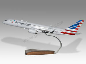 Boeing 757-200 American Airlines Solid Mahogany Wood Handcrafted Display Model