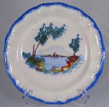 Auvillar - Assiette en faïence à décor de paysage. XIXe s. (4)