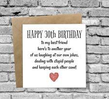HAPPY 30th BIRTHDAY CARD FUNNY BEST FRIEND HUSBAND WIFE SON DAUGHTER BOYFRIEND