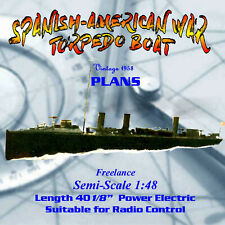 Full Size Printed Plan Freelance Semi-Scale TORPEDO BOAT for R/C