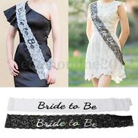 Bride to Be Lace Sash Waist Belt Accessory Hen Party Bachelorette Girl Night