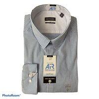 Van Heusen Slim Fit Long Sleeve Shirt 17 32/33 XL Blue Plaid Slim Fit NEW $55