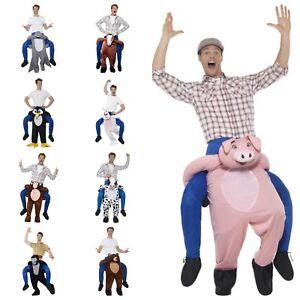 Huckepack Kostüm,Tier,Tragekostüm,Affe,Kuh,Schwei,Pinguin Anzug,Pferd,Piggyback