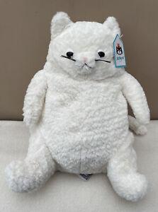 NEW Jellycat Amore Cream Cat White Chubby Cat Soft Baby Toy Comforter Plush BNwT