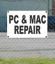 2x3 PC & MAC REPAIR Black & White Banner Sign NEW Discount Size Price FREE SHIP