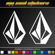 2 x Volcom 14cm high Vinyl Sticker Decal, ute car surf skate