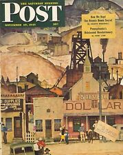 The Saturday Evening Post November 10 1945 Mead Schaeffer's Cover Birthday Gift