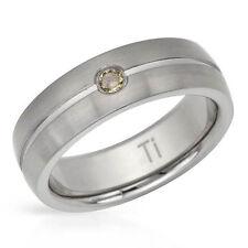 Band Ring Retail $359.00 Very Nice Men's Diamond .15 Tcw Titanium Size 10