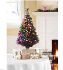 32 Inch Green Fiber Optic Color Changing Christmas Tree LED Lights NEW!!!