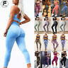 Womens Sexy Yoga Suit Sports Bra+Leggings Crop Top Pants Workout Gym Fitness Set