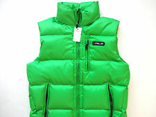 New Ralph Lauren RLX Lime Green Hooded Puffer Down Vest S