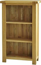 Grasmere solid oak living room office furniture small narrow bookcase