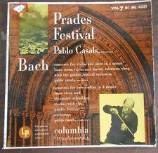Bach Prades Festival by Pablo Casals, Columbia Masterworks, Vol.7, 33 LP