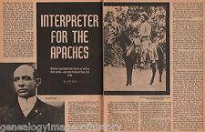 George Medhurst Wratten, Jr. Apache Interpreter- Betzinez,Chapo, Daklugie,Juh