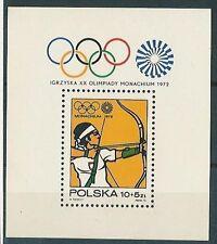 Poland stamps MNH Olympic games Munich (Mi. B51)