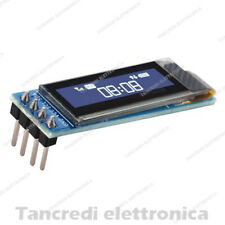 "Display OLED lcd 0.91"" 128x32 12832 blu I2C IIC SSD1306 (arduino-compatibile)"