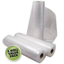 Weston Vacuum Sealer Bags Roll (Pack of 3), 11-Inchx18-Feet, Clear