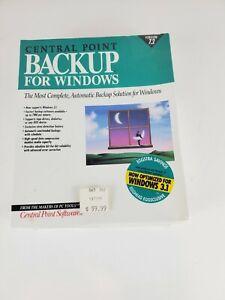 *NEW* Central Point Backup For Windows - Ver 7.2 *1990's VINTAGE SOFTWARE* *NOS*