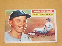VINTAGE OLD 1950S BASEBALL 1956 TOPPS CARD BOB NIEMAN CHICAGO WHITE SOX