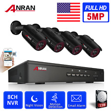 ANRAN 1944P 8CH NVR P2P Security Camera System 5MP POE Outdoor CCTV Set DayNight