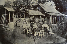Family in Front of Homestead Tintype (5x4 Inches, Half Plate)