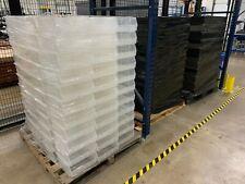 "Uline Plastic Stackable Bins - 11 x 11 x 5"", Clear, pallet of 132 bins"