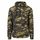 Urban Classics Men's Camo Windbreaker Pullover Jacket Hooded Jacket Wind Jacket