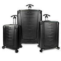 Silverwood 3pc Polycarbonate Hardside Expandable Spinner Luggage Set