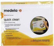 Medela Quick Clean Micro Steam Bags  / Bolsas para Limpieza de Sacaleches