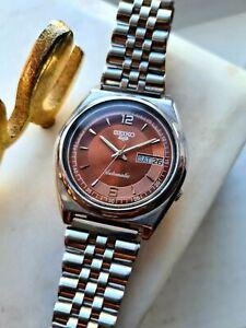 Vintage BROWN 1982 SEIKO 5 Men's Japan Automatic Watch 7009-3131