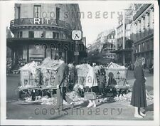1949 Dirty Paris Street Sanitation Workers Strike Les Halles Press Photo