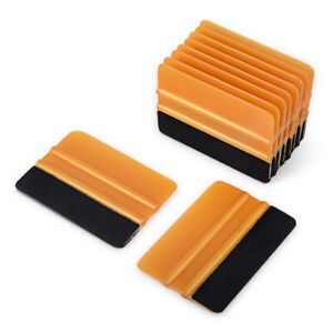 100 Pcs Vinyl Squeegee Fabric Felt Squeegee Car Wrapping Install Wrap Squeegee
