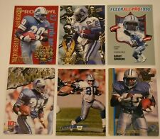BARRY SANDERS (24) FOOTBALL CARD LOT *Inserts, Base, + Detroit Lions HOF Lot #9