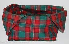 LONGABERGER Christmas Tartan Plaid Basket Liner 2000  Red Green Pointed Flaps