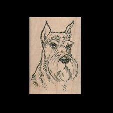 Schnauzer Rubber Stamp Schnauzer Portrait Dog Stamp Floppy Eared Dog Face New