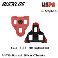 BUCKLOS MTB Road Bike Pedal Cleat 6/9° Float Cleat Set fit Look Delta SPD SPD-SL