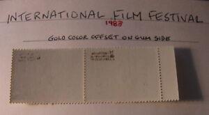 Philippines ERROR GOLD OFFSET PAIR 1983 FILM FESTIVAL