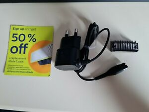 Phillips one blade charger, Comb and 50% off replacement blade 2 pack leaflet.