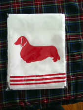 Long Haired Dachshund Dog Shower Curtain White with Red Sale one only