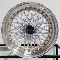 "4-New 16"" Vors VR3 Wheels 16x8 4x100/4x114.3 20 Silver Rims 73.1"