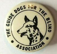 1940's The Guide Dogs For The Blind Tin Badge 24 mm