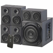 auvisio Analoges 5.1-Lautsprecher-System für PC, TV, DVD, Beamer & Co., 120 W