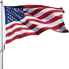 Eder Flag Poly-Max US Flag 8' x 12' Durable High Wind Embroidered Stars USA Made
