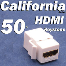 50 HDMI Keystone Coupler Adapter insert Jack Wall Plate Female Female Connector