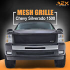 Front Mesh Grille Black Stainless Steel Insert Fit 07-13 Chevy Silverado 1500