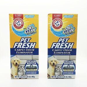 2 Lot Arm & Hammer Pet Fresh Oxi Clean Carpet Odor Eliminator Deodorize 16.3 oz